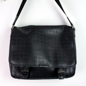 Coach Houston Messenger Bag Black Crossbody